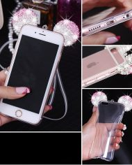 Mickey Mouse Ear Diamond Case iPhone 6/6s – Ασημί