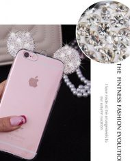 Micky Mouse Diamond Ears θήκη iPhone 7 – Aσημί